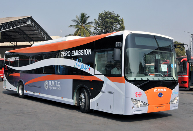 Karnataka's first electric bus.
