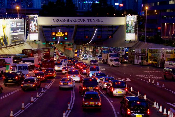 Cross Harbour Tunnel.