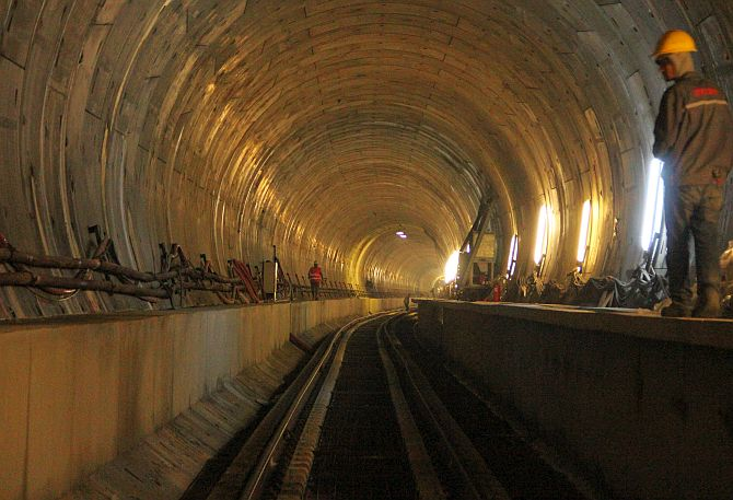 Marmaray Tunnel.