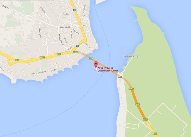 Aktio-Preveza Undersea Tunnel.
