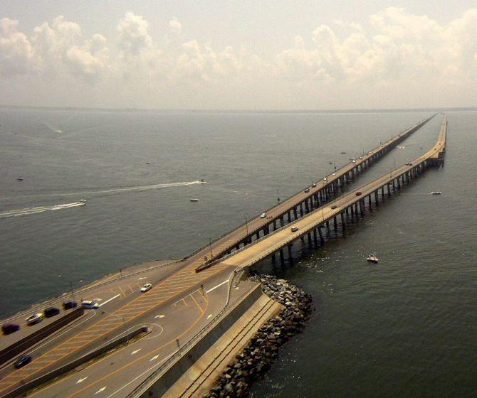 Chesapeake Bay Bridge Tunnel.