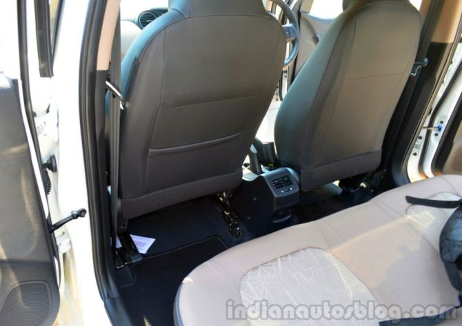 Hyundai Xcent diesel back seats.