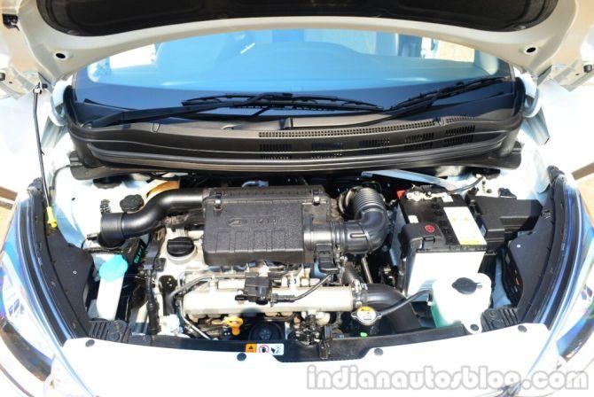 Hyundai Xcent's engine.