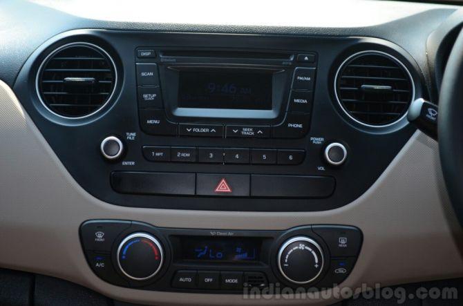 Hyundai Xcent interior.