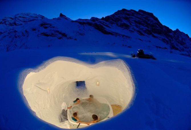 Sauna at the Igloo Village.