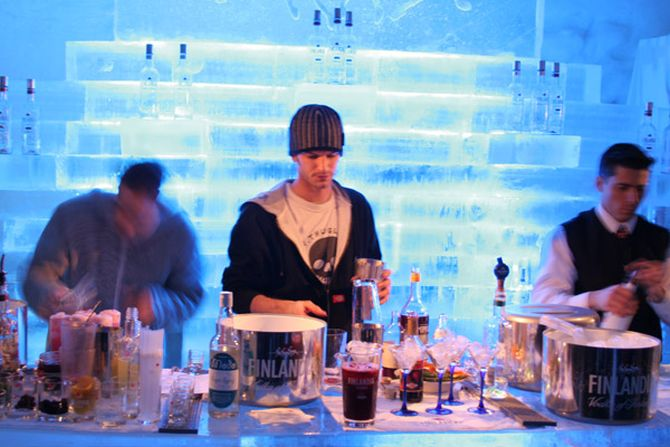 Ice bar at the Snow Village.