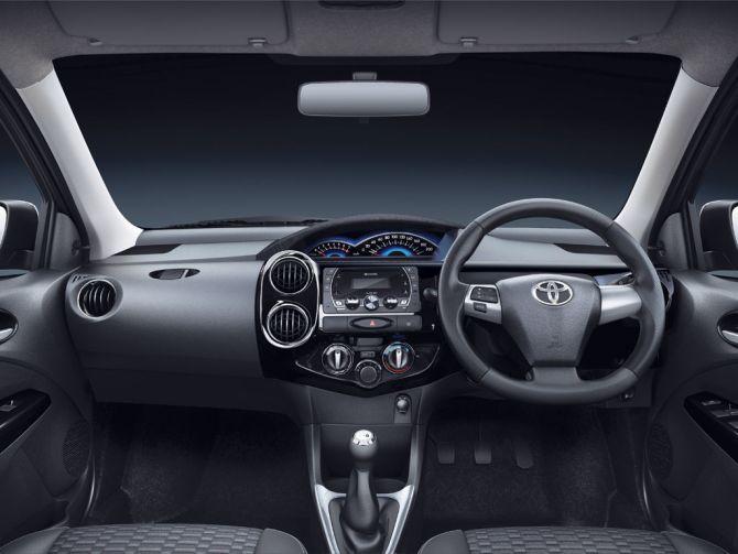 Toyota Etios Cross interior.