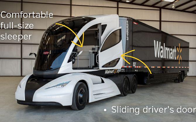 Walmart Truck Batteries >> Walmart showcases 'truck of the future' - Rediff.com Business