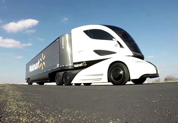 Walmart Showcases Truck Of The Future Business
