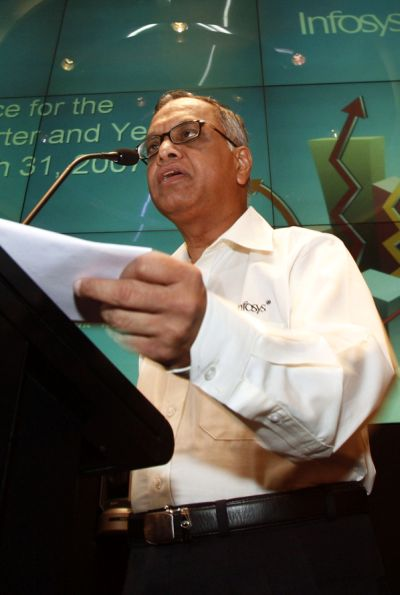 Infosys Executive Chairman and co-founder NR Narayana Murthy.