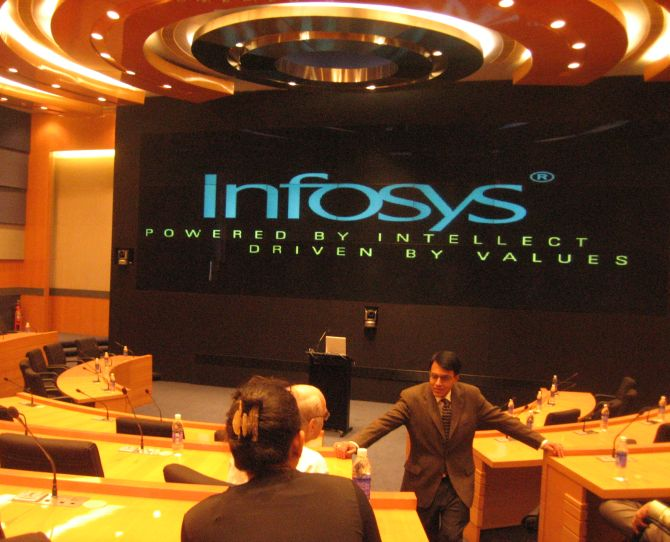 Infosys' conference hall.
