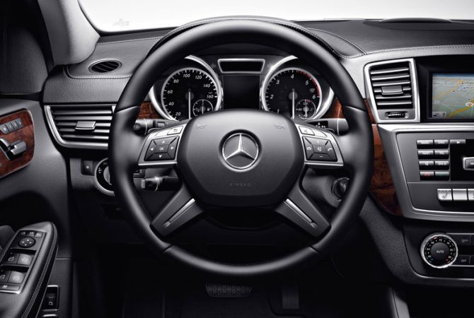 Mercedes GL 63 AMG interior.