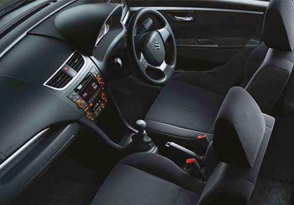 Maruti Swift interior.