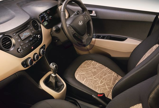 Hyundai Grand i10 interior,