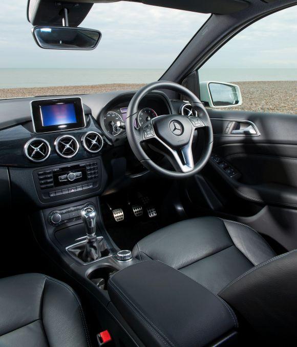 Mercedes B-Class interior.