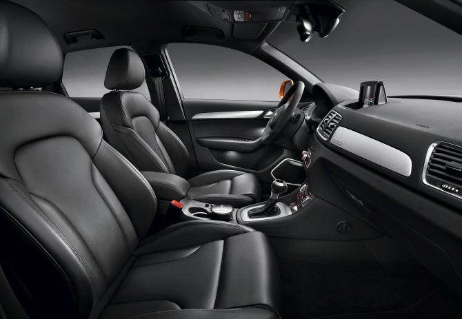 Audi Q3 interior.