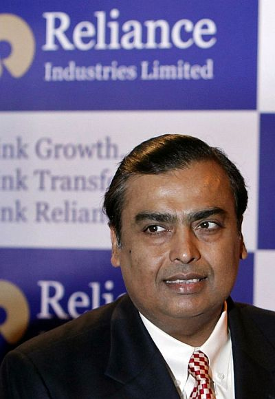 Mukesh Ambani, chairman of Indian energy major Reliance Industries, arrives to address the annual shareholders meeting in Mumbai.