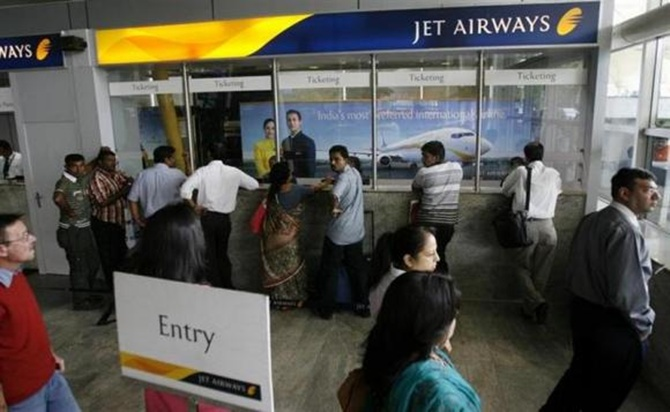 A Jet ticket counter.