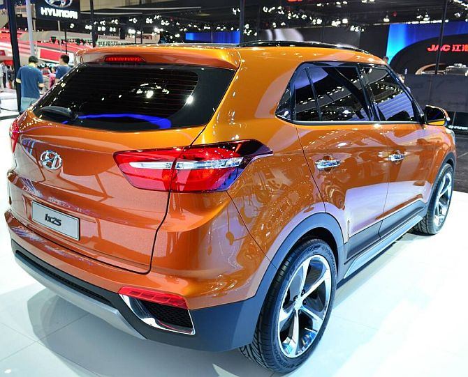 Hyundai ix25 at the Beijing Motor Show 2014.