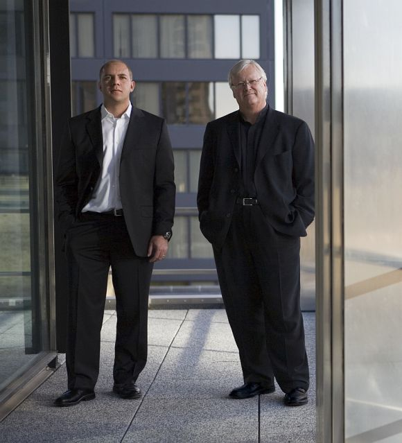 Gordon Gill (left) and Adrian Smith, design architects of Kingdom Tower.