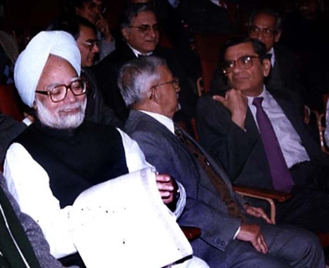 Bhagwati with Prime Minister Manmohan Singh.