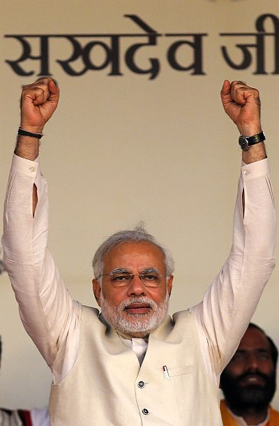 BJP's prime ministerial candidate Narendra Mod