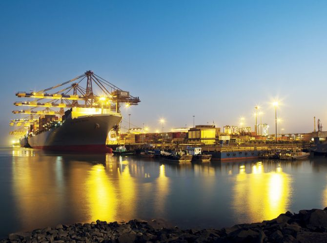 The Mundra port in Gujarat.