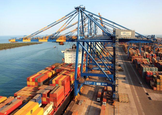 The Mundra Port.