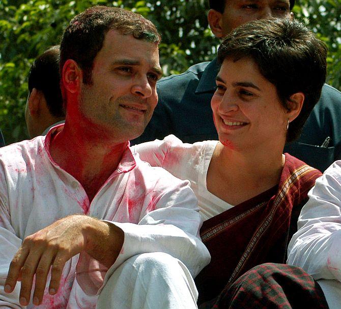Rahul and Priyanka Gandhi.