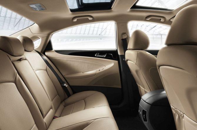 Hyundai Sonata interior.