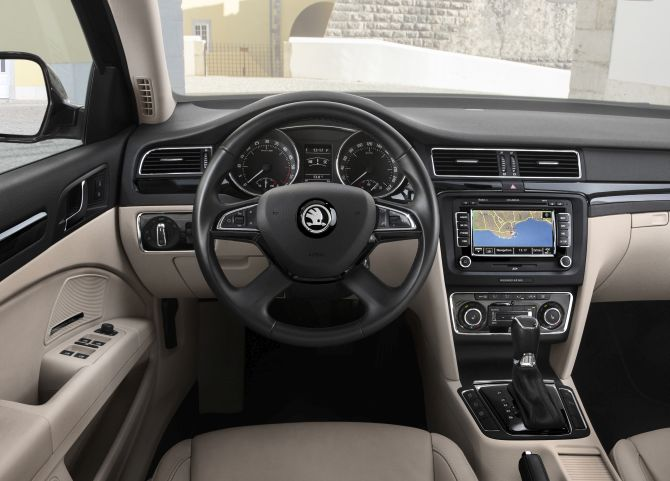 Skoda Superb interior.