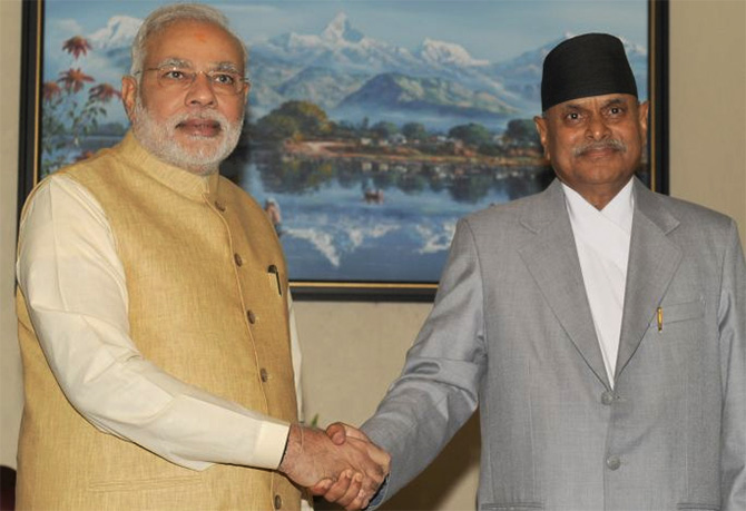 PM meets President of Nepal, Ram Baran Yadav.