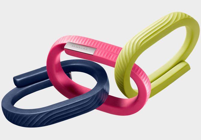 Jawbone's wrist band.
