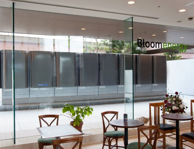Bloom Energy's fuel cell server at Softbank, Japan