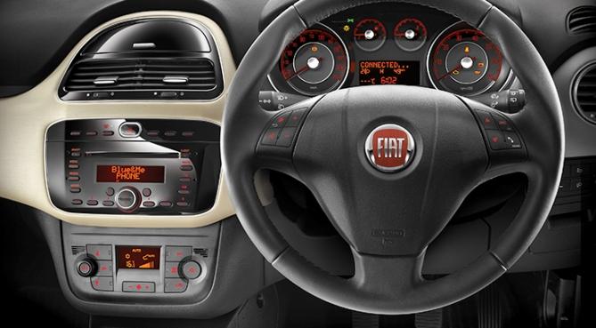 The Fiat Punto Evo interior.