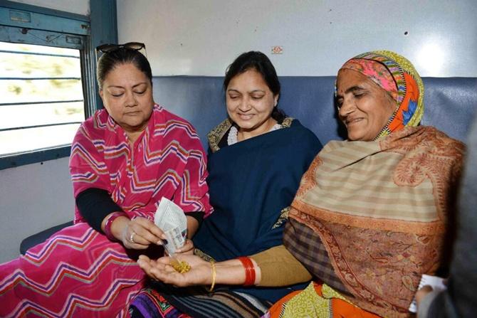 Vasundhara Raje empowers women.