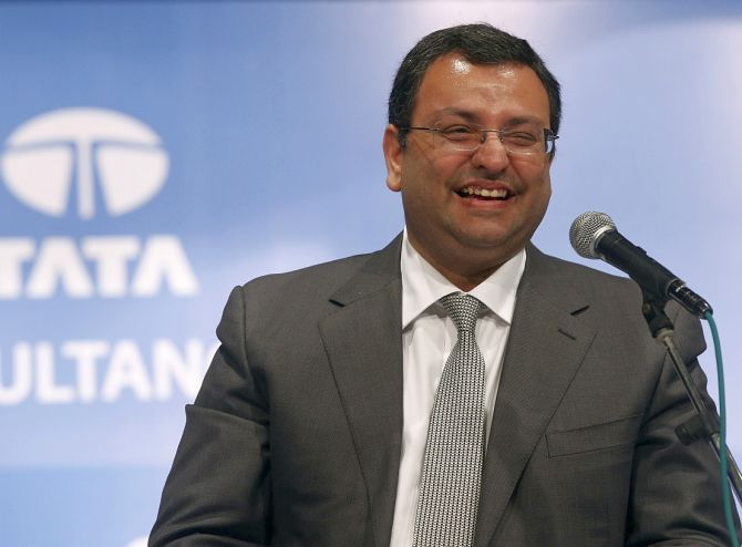 Cyrus Mistry, chairman of Tata Group, smiles during the Tata Consultancy Services Ltd. (TCS) annual general meeting in Mumbai.