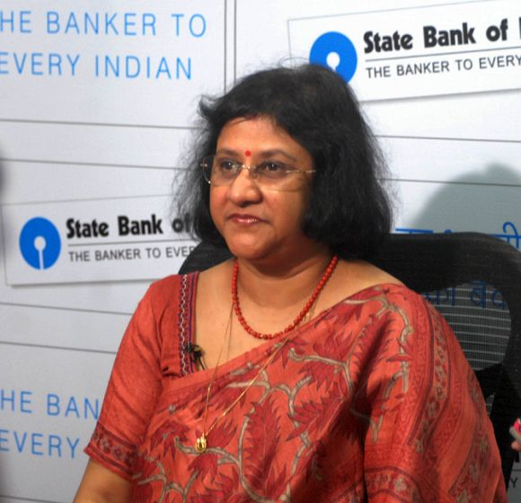 State bank of India's Chairperson Arundhati Bhattacharya.