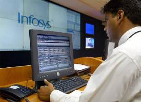 An infosys engineer at work.