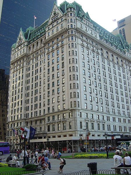 The Plaza Hotel, New York City.