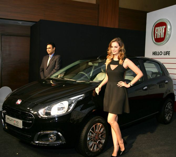 Fiat Punto Evo launch.