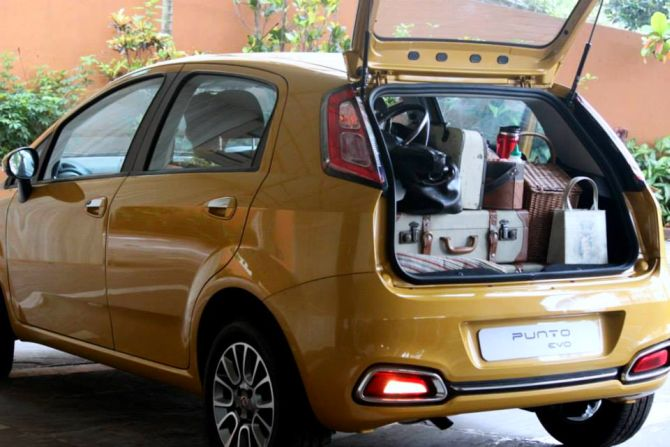 Fiat Punto Evo is more spacious than Volkswagen Polo, Maruti Swift