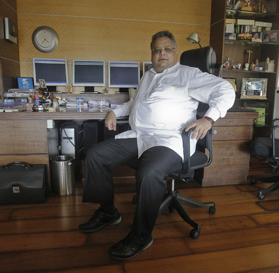 Investor Rakesh Jhunjhunwala in his office in Mumbai.