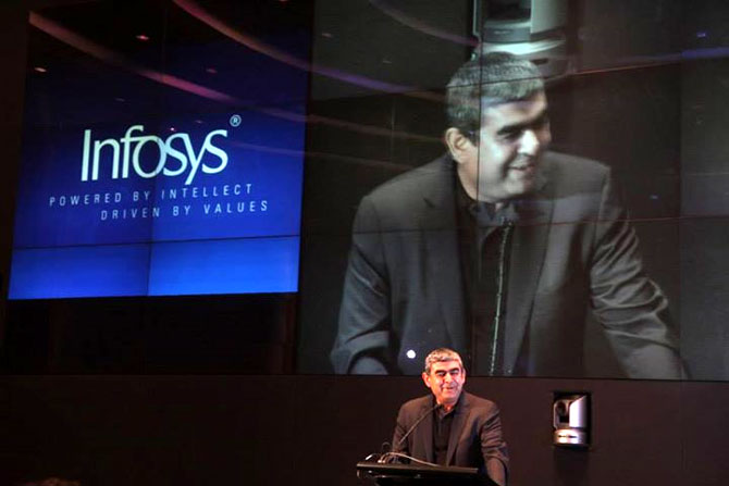 Sikka would have to become a visible standard bearer for the Infosys brand.