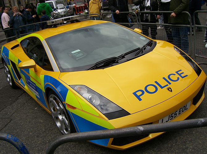 Really hot and most expensive police cars