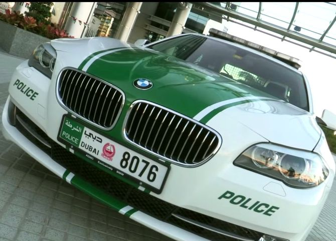 Image grab from Dubai Police Video.