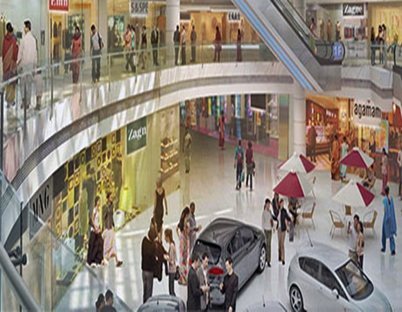 Construction work on DLF's biggest mall stalled