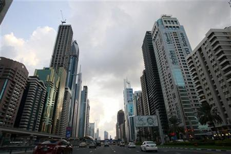 Motorists drive along Sheikh Zayed road in Dubai