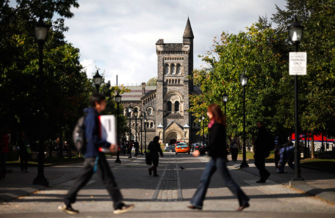The University of Toronto campus is seen in Toronto.