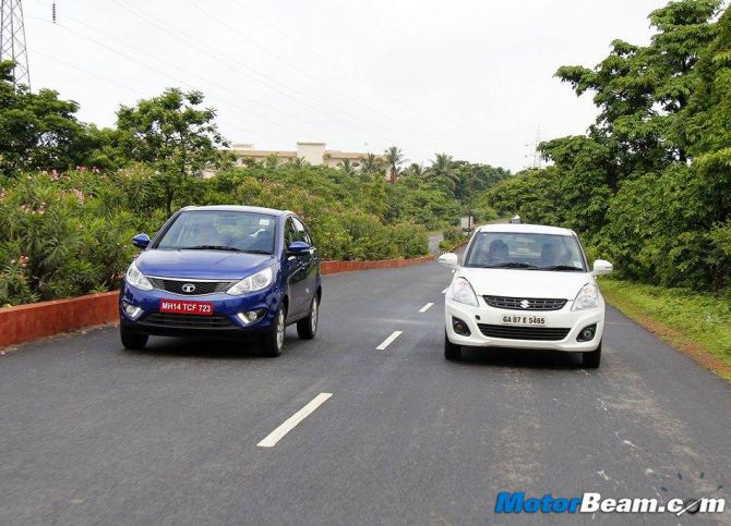 Tata Zest is a better car than Maruti Dzire